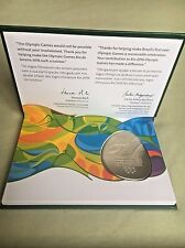 Rio 2016 Olympics Authentic Participation Medal Mint in Presentation Box