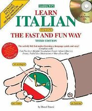 Learn Italian the Fast and Fun Way book and CDs