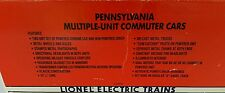 LIONEL # 6-18306 PENNSYLVANIA MULTIPLE UNIT POWERED & NON-POWERED COMMUTER CARS