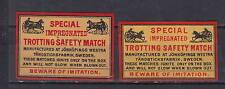 Anciennes  étiquettes   allumettes  Suède  AZ3351 Trotteur Cheval 3