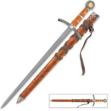 """New! Medieval Broadsword w/ sheath by Tomahawk Stainless Steel 22 1/2"""" Overall"""