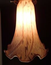 1 AMBER or BROWN FROST LILY SHADE ART GLASS LILLY TABLE LAMP REPLACEMENT LARGE