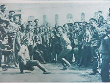 1914 RUSSIAN SOLDIERS DANCING; EASTERN FRONT MAPS WWI WW1 (1 SHEET, BOTH SIDES)