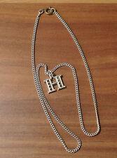 Sehr schöne silberne Halskette L=43cm Heiko Henrik Hans Hannah Heidi TOP! (N8)