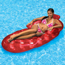Poolmaster Swimming Pool Inflatable Red French Oval Pool Lounger Float