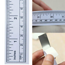 Self Adhesive Metric Measure Tape Vinyl Silver Ruler For Sewing Machine Stickers