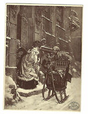 Old Trade Card Candee Rubber New Haven CT Departure For Church Famous Paintings