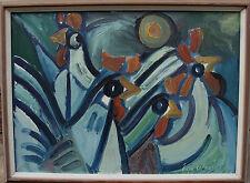 Eyvind Olesen 1907-1995, Composición de pollo, fechado 1965