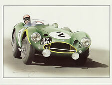 Aston Martin DBR3S Du Mans  62 EMU Dugan motoring art large greeting card Le Man