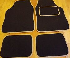 Car Mats Black and Beige Cream mats for  RENAULT CLIO LAGUNA TWINGO MEGANE MODUS