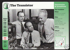THE TRANSISTOR Invention Bardeen Brattain Shockley Photo STORY OF AMERICA CARD