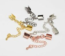 10  x  Assorted Colour Plated Clasp/Crimp End Findings J1527m