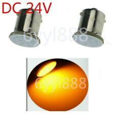 2x LED DC24V Car Bulb 1156 BA15S Light Brake/Turn/Tail/Revese Lamp Yellow/Orange