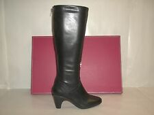 Johnston & Murphy Size 6.5 DENISE BACK ZIP Black Leather Boots New Womens Shoes