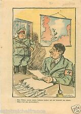 Caricature Guerre WWII Hitler & Hermann Göring /Goering 1939 France ILLUSTRATION