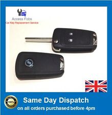 Opel Vauxhall Insignia Astra 2 button folding Flip remote key fob Astra J