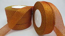 """NEW 25yards 1 """"25mm glitter ribbons Bling for DIY Wreaths decorated and Bows 12A"""