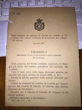 REGIO DECRETO AGGREGA COMUNE CASTELLO di CISTERNA a sez BRUSCIANO coll ACERRA