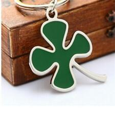 Lucky Green Color Four-leaf Clover Fortune Keychain Key Chain Ring Key Fob Gi C`