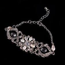 Vintage Wedding Bridal Bracelet Adjustable Chain Crystal Rhinestone Bracelet