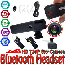 720P Bluetooth Headset Earphone HD Spy Camera Mini DVR DV Video Audio Recorder