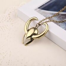 Pendentif Viking Masque THOR Helmet Pendent Chaine Necklace Casque Mask Collier