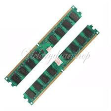 4GB(2x2GB) DDR2-667 PC2-5300 Non-ECC Unbuffered Desktop PC Memory Module 240-pin