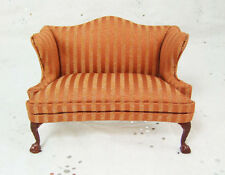 Hansson - 1/12 Scale Dollhouse Miniature Fancy Wing Back Sofa -8023