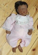 """Lee Middleton Black GIRL DOLL 22"""" Sleeping Girl - New without box"""