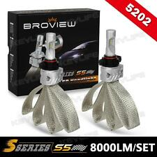 BroView S5 12086 PS24W 8000LM LED Fog Lights 6500K Philips Headlight All in One