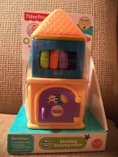 FISHER PRICE STACKING ACTIVITY HOME DEVELOPMENTAL TOY *NEW*