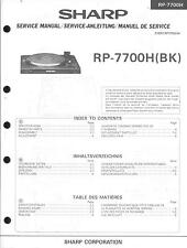 Sharp Service Manual für RP-7700 H  .