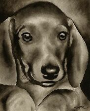 DACHSHUND PUPPY note cards by watercolor artist DJ Rogers