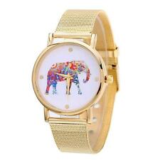 2016 Stylish Elephant Women Watch Gold Stainless Steel Analog Quartz Wrist Watch