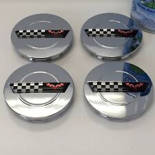 4 Chrome wheel center caps fits: Chevy Corvette Camaro 91 - 96 ZR1 C4 Rims 3""