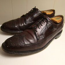 Vtg Florsheim Royal Imperial Shell Cordovan 11.5 B Longwing Oxfords Dress Shoes