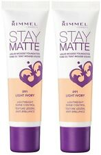 2 Rimmel London Stay Matte Liquid Mouse Foundation in Light Ivory 091 Free Ship