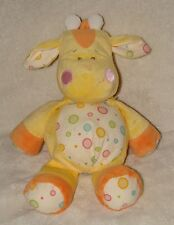 Baby Ganz Gum Drop Plush Giraffe Rattle Stuffed Animal Polka Dot Soft Toy
