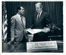 1986 Georgia Governor Joe Frank Harris With Calvin Smyre Press Photo