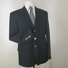 BOYS 'PRINCETON' NEW BLACK BLAZER -14 H- MADE IN ITALY SUPER 100'S WOOL 3 BUTTON