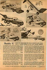 1953 ADVERT Buddy L Hi-Lift Truck Scoop N Dump Steam Shovel Marx Gas Station
