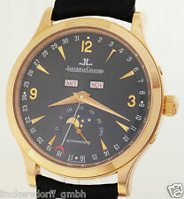 JAEGER LECOULTRE MASTER CONTROL 140.2.98.S 18ct ROTGOLD - KALENDER & MONDPHASE