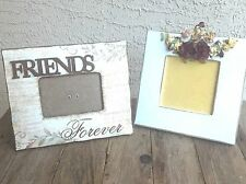 """Two (2) Frames - Friends"""" Picture Frame And Flower Picture Frame"""