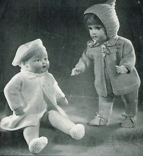 "Dolls clothes knitting pattern for 18"" doll.  Laminated copy ( V Doll 10)"