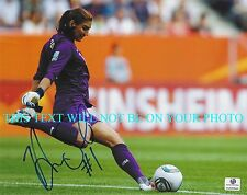 HOPE SOLO AUTOGRAPHED AUTO 8x10 RP PHOTO TEAM USA SOCCER BEAUTIFUL KICK