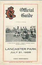 Old Boys, Technical, Linwood, Albion 21 Jul 1928 Canterbury NZ Rugby Programme