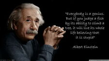 "012 Albert Einstein - Think Different Great Scientist German 25""x14"" Poster"
