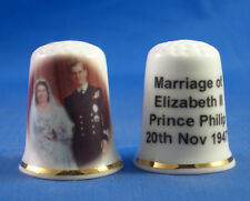 Birchcroft Thimble --  H M Queen Elizabeth & Prince Philip Wedding with Free Box