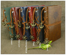 Portable Nautical Retro Leather Notebook Refillable Journal Sketchbook Green
