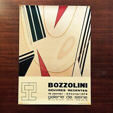 vtg French 1970's art poster retro Bozzollini Abstract modern mid-century Paris